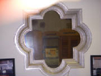 Quatrafoil Mirror -Silverleaf $299