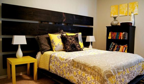 Bedroom designs grey and yellow ideas pictures for Grey and yellow bedroom designs