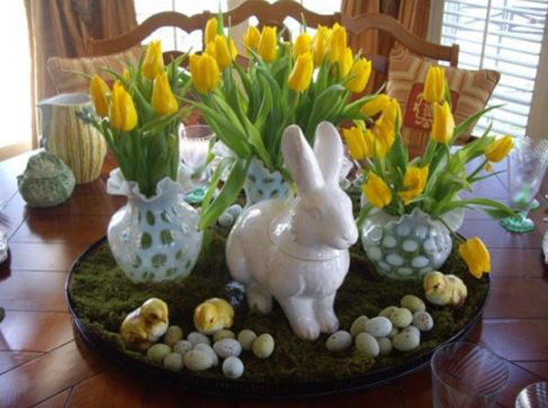 easter table decorations drg interior designs. Black Bedroom Furniture Sets. Home Design Ideas