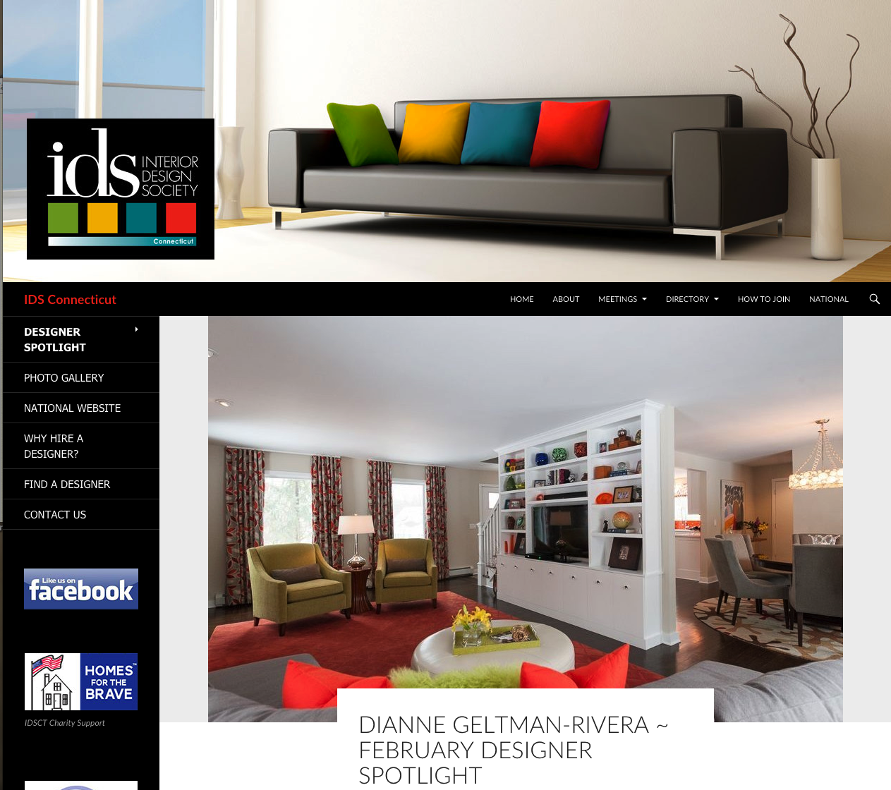 Featured design on the interior design society ct for Interior design association